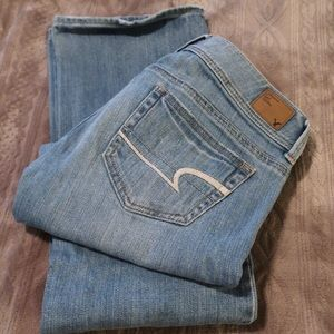 American Eagle light faded jeans